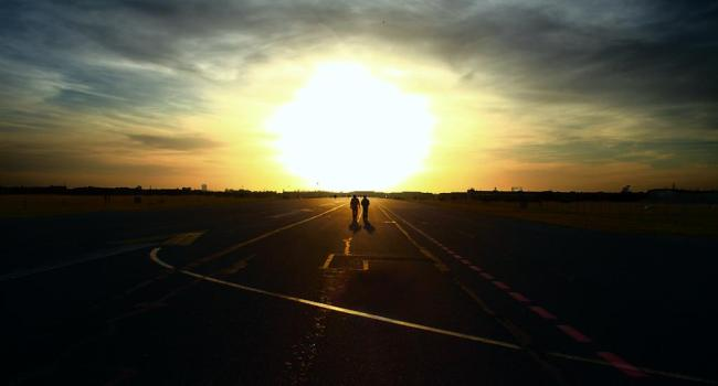 Sunset at Tempelhof Airport