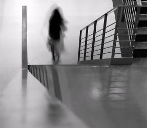 woman-dwonstairs-blur